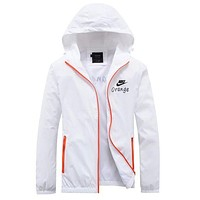 Nike Women Men Cardigan Jacket Coat Windbreaker White