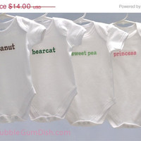 Custom Embroidered Nickname Onesuit Personalized Baby Name
