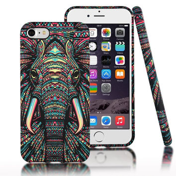 Luminous Elephant Case for iPhone 7 7 Plus & iPhone 6 6S Plus +Gift Box