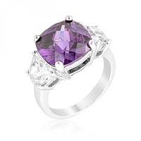 Purple Triplet Ring
