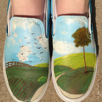 Owl City All Things Bright and Beautiful/The Midsummer Station Mashup Hand-painted Shoes