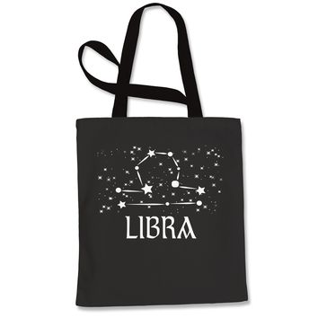 Libra Zodiac Star Chart  Shopping Tote Bag
