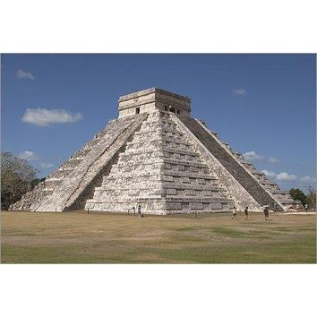 CHICHEN ITZA poster PRE-COLUMBIAN city built by MAYAN PEOPLE historic 24X36