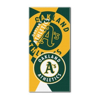 "Oakland Athletics MLB ""Puzzle"" Over-sized Beach Towel (34in x 72in)"