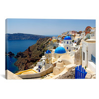 High Angle View of a Church, Oia, Santorini, Cyclades Island by Panoramic Images 26x18