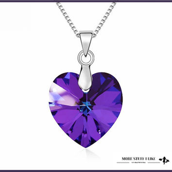 "Original SWAROVSKI ELEMENTS Crystal Heart PENDENT "" Necklace"