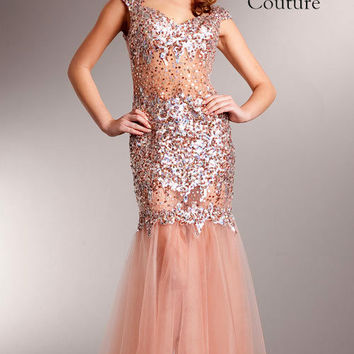 KC14236 Cap Sleeve Prom Evening Gown by Kari Chang Couture