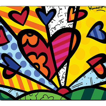 New Romero Britto Artwork Neo-pop Mousepad Mouse Pad Mat