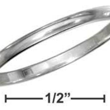 Sterling Silver 1.5mm High Polish Wedding Band Ring