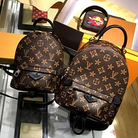 LV Women Casual School Bag Cowhide Leather Backpack I