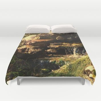 Fall Waterfall Duvet Cover by Theresa Campbell D'August Art