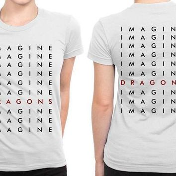 CREYH9S Imagine Dragons Much More Title B 2 Sided Womens T Shirt