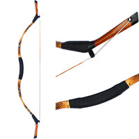 Traditional Hunting Longbow  Handmade Leather Longbow Archery set  Traditional Chinese Archery Bow