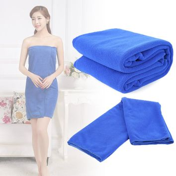 Bath Accessories Quick-Dry Bathrobe Absorbent Microfiber Home Beach Hotel Towel Drying Washcloth Swimwear 70x140cm Luxury Towel