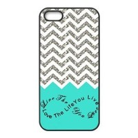 Colorful Chevron Pattern Live the Life You Love, Love the Life You Live Case - iPhone 5 Case - iPhone 5S Case - Hard Plastic Case