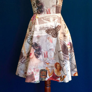 Summer dress, vintage style dress, cotton dress, day dress, prom dress