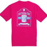 Southern Tide Short Sleeve 19th Hole T-Shirt- Dark Pink