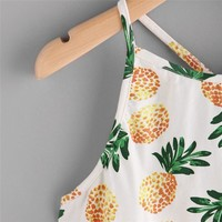 Pineapple Print Crop Top