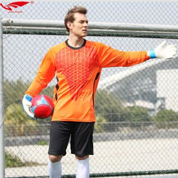 Men goalkeeper uniforms Long Sleeve High Quality Soccer Goalkeeper Jerseys+Shorts 2 Pieces Set Survetement Football 2018
