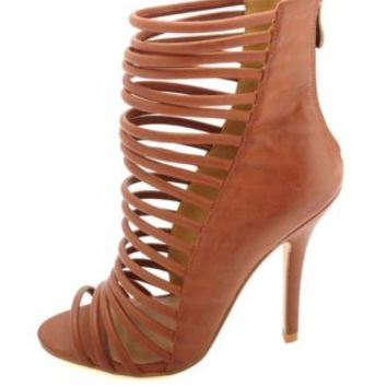 HeartSoul Super Strappy Caged High Heels from Charlotte Russe