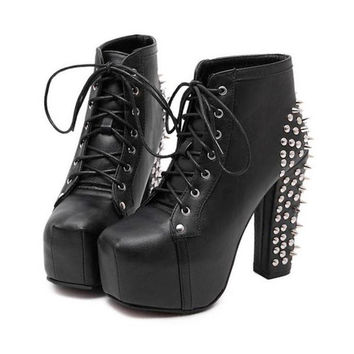 Lita Spike Rivet Ankle Boots