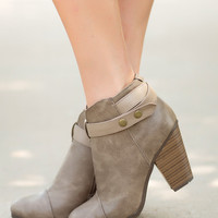 Best Foot Forward Booties-Beige