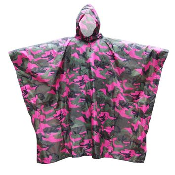 3 in 1 Waterproof Camp Tent Mat Awning Multifunctional Camouflage Poncho Raincoat Rain Cover Backpack for Outdoor Camping Travel