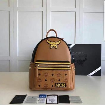 MCM Stark Backpack Medium Side Studded