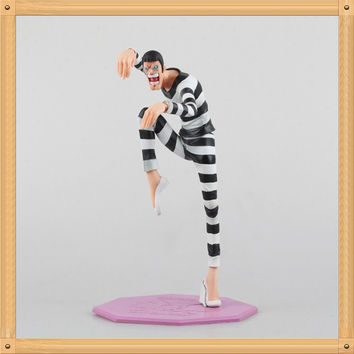 Free shipping One Piece Bentham Action Figure Mr. 2 Doll 1/7 scale painted figure Bentham PVC ACGN figure Brinquedos Anime 24CM