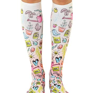 Gardener Knee High Socks