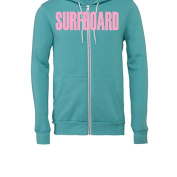surfboard - Unisex Full-Zip Hooded Sweatshirt