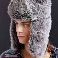Mad Bomber Allover Faux Fur Hat- Grey