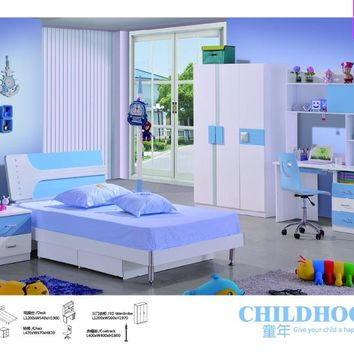 Child Desk Chair Chair Enfant Loft Bed Set Kids Table And Wood Kindergarten Furniture Camas Lit Enfants Childrens Bunk Beds
