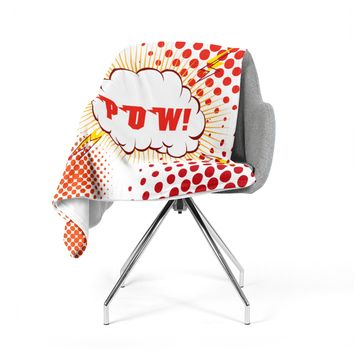 "KESS Original ""POW!"" Cartoon Fleece Throw Blanket"