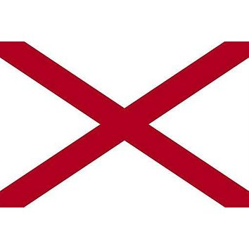 the alabama official state FLAG POSTER red white COLLECTORS HISTORIC 24X36