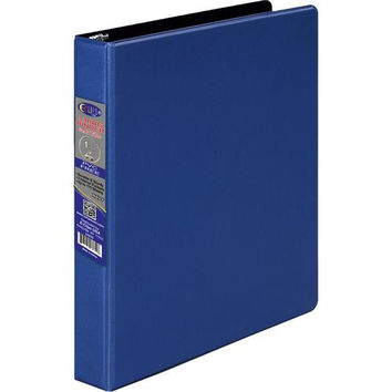1 Inch 3 Ring Vinyl Binder - Blue