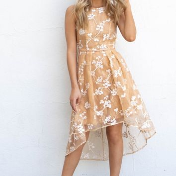 Just Enough Amber High Low Floral Dress