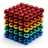5mm 125PCS Magnetic Balls DIY Puzzle Toy - Multi-Colored