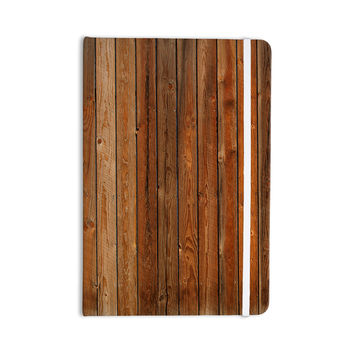 "Susan Sanders ""Rustic Wood Wall"" Nature Brown Everything Notebook"