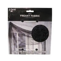 Halloween Freaky Black Fabric - Walmart.com