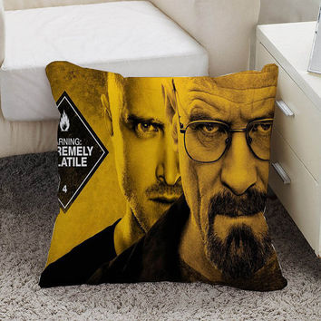 breaking bad Pillow case size 16 x 16, 18 x 18, 16 x 24, 20 x 30, 20 x 26 One side and Two side