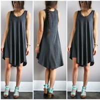 A Summer Tank Dress in Grey