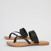 Vero Moda Flat Leather Sandal at asos.com