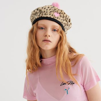 Lazy Oaf Leopard Love Beret - View all - New In - Womens