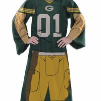 Green Bay Packers Blanket Comfy Throw Player Design
