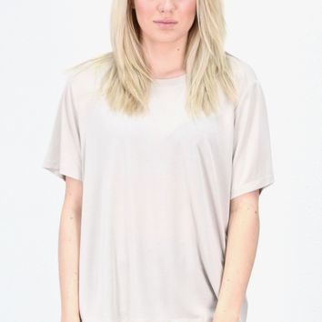 Short Sleeve Basic Modal Tee {L. Taupe}
