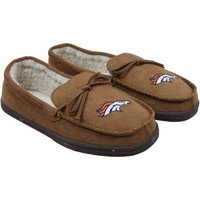 Denver Broncos Moccasin Slippers - Tan