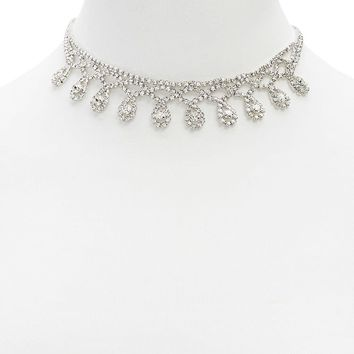 Diamante Bib Statement Necklace