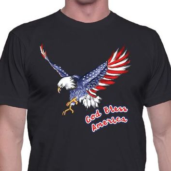 Eagle Shirt, God Bless America, Unisex Style, Classic Tee, Casual Shirt, 4th of July, American Eagle,Bald Eagle Shirt,American Shirt,America
