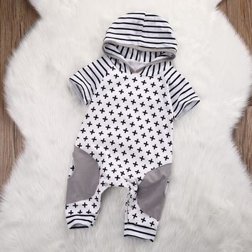Henley Hooded Cross Jumpsuit